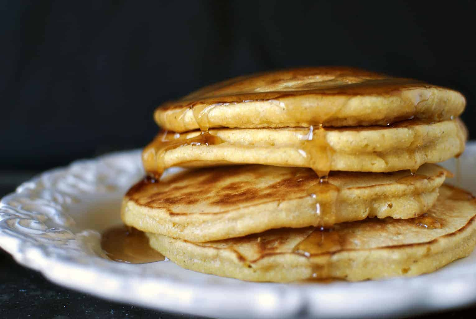 Cornmeal pancakes recipe \\ Pass the Sushi