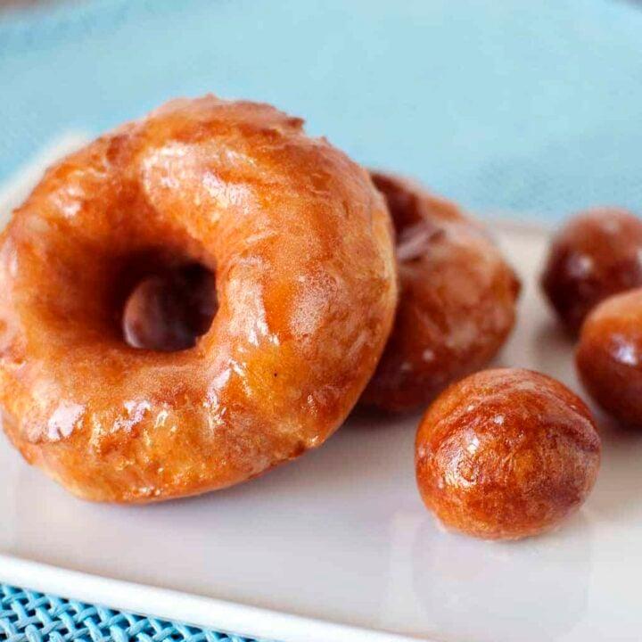 Incredibly Easy Homemade Fried Doughnuts - Get the recipe on PassTheSushi.com