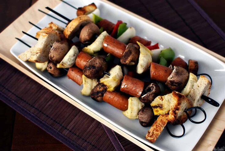 Sausage Kabobs {Quick Dinner Fixins}