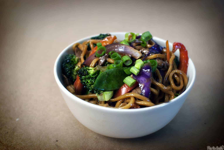 Flank Steak Udon Noodle Stir Fry \\ Recipe on PassTheSushi.com