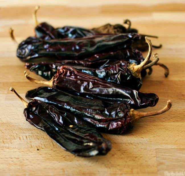 dried Mexican red chile peppers