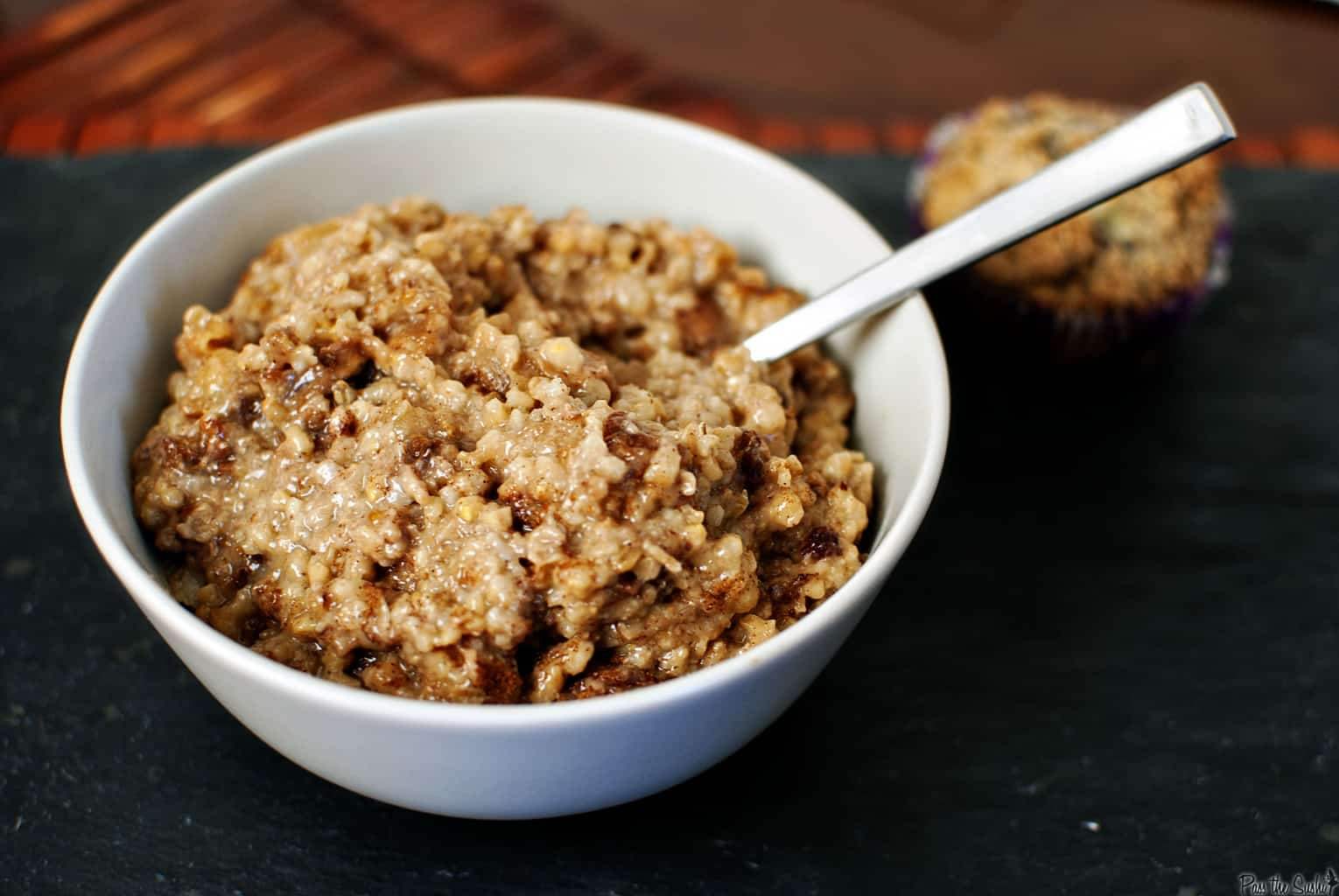 Overnight Slow Cooker Oatmeal - Pass The Sushi
