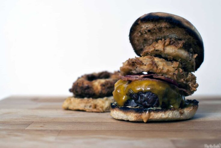 Beef Burgers with Crunchy Sour Cream Onions - Pass The Sushi