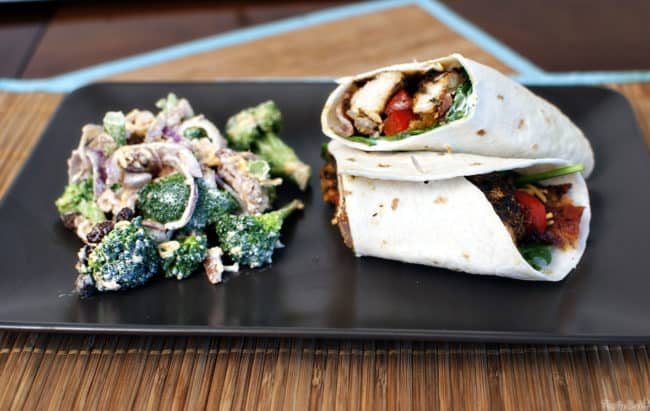 Blacked chicken wraps are perfect for lunch, dinner, or even game day snacks. Easy to make, these wraps are a delicious grilled chicken meal! // Pass the Sushi