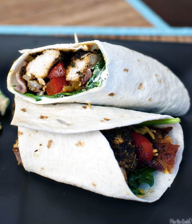 Blacked chicken wraps are perfect for lunch, dinner, or even game day snacks. Easy to make, these wraps are a delicious grilled chicken meal!