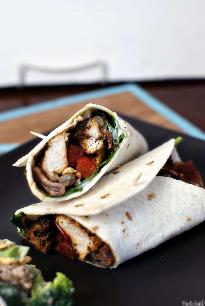 Blacked chicken wraps are perfect for lunch, dinner, or even game day snacks. Easy to make, these wraps are a delicious grilled chicken meal! // PassTheSushi.com