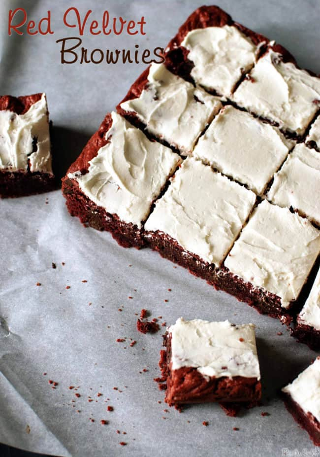 Red Velvet Brownies // Recipe on PassTheSushi.com