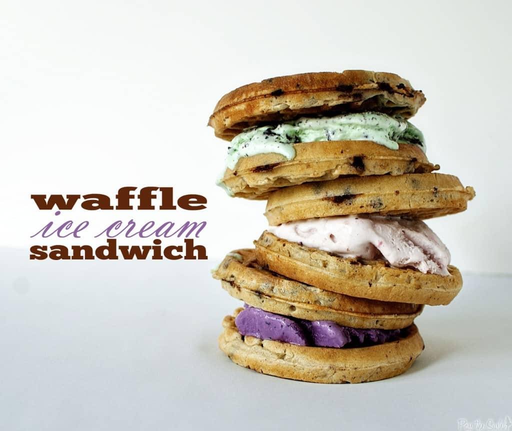 Waffle Ice Cream Sandwiches - Pass The Sushi