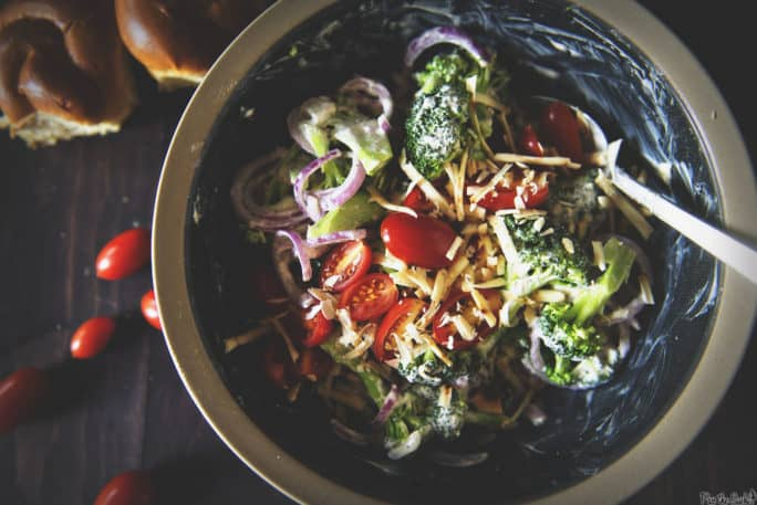 Bacon Cheddar Broccoli Salad | Kita Roberts PassTheSushi.com