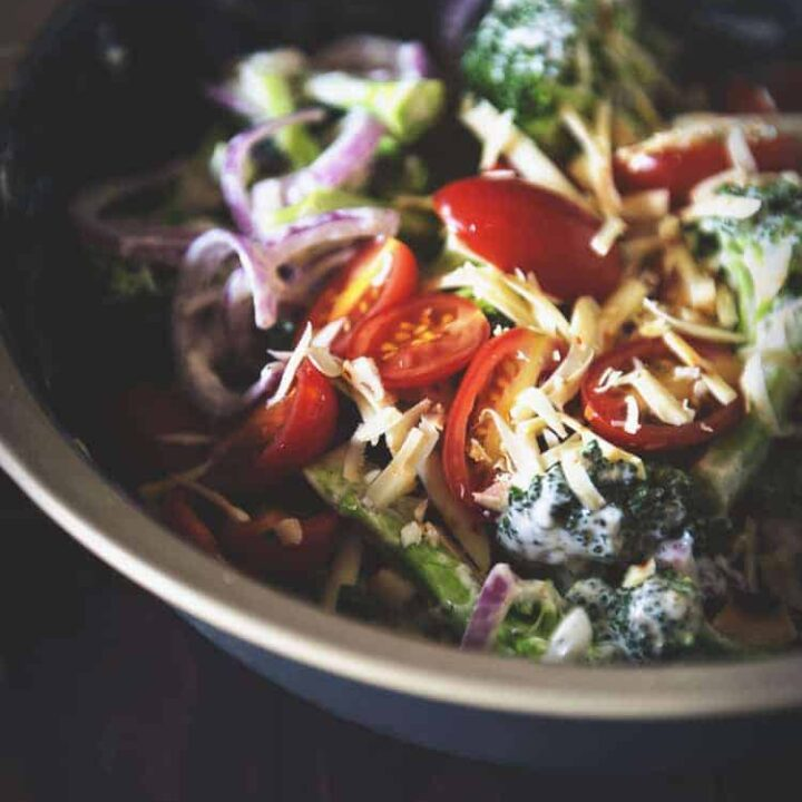 Bacon Cheddar Broccoli Salad