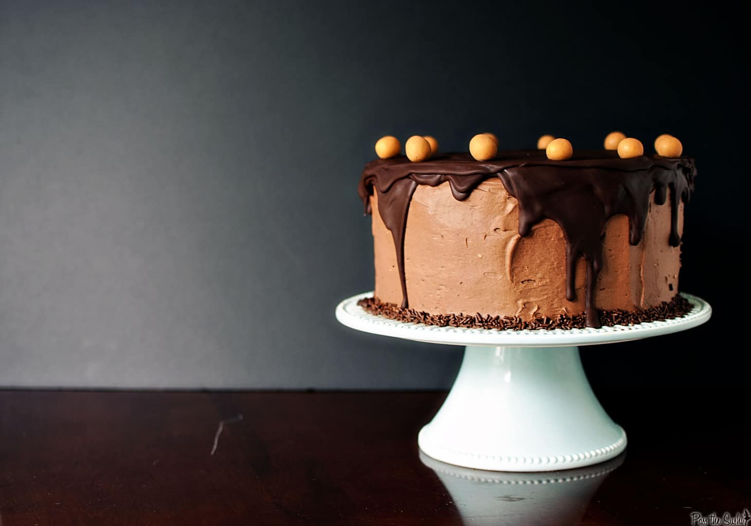 Chocolate Peanut Butter Birthday Cake - Pass The Sushi