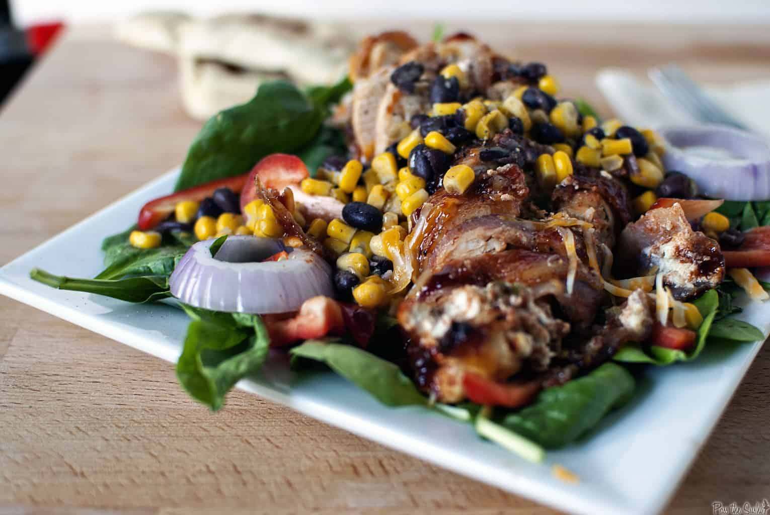 Quick Dinner Fixins: Barbecue Stuffed Chicken Salad