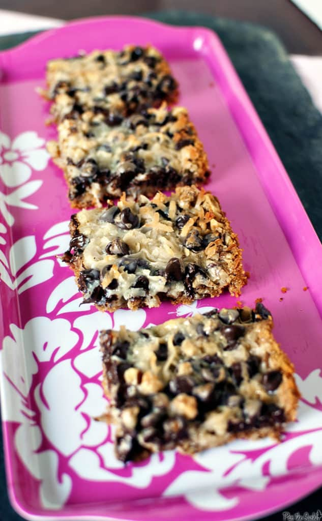 Chewy, sweet, and incredibly easy to make, these coconut bars are the perfect treat to make for a simple baked dessert. // PassTheSushi.com