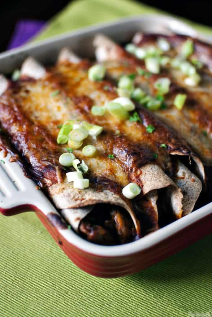 Homemade Chicken Enchiladas with 10 minute Enchilada Sauce // PassTheSushi.com