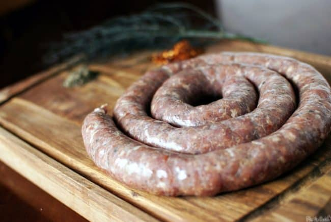 Learn how to make spicy Italian sausage from scratch in this recipe post on PassTheSushi.com