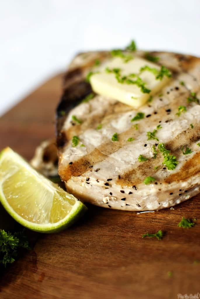 Grilled swordfish steaks for round two pass the sushi for Sword fish recipes