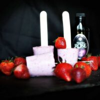 Tequila Rose Strawberry Popsicles