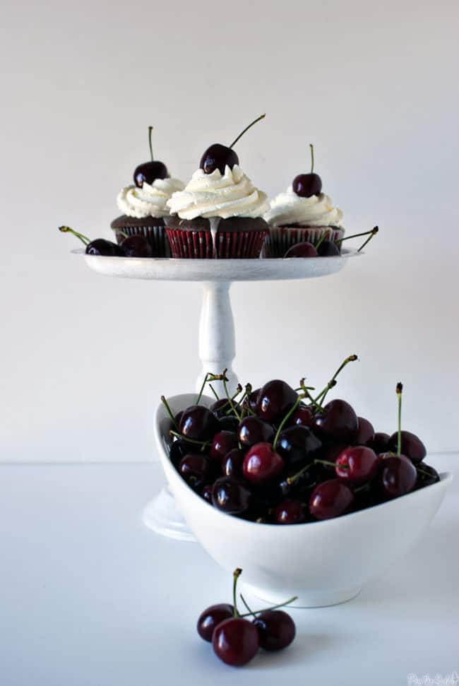 Cherry Coke Float Cupcakes \\ PasstheSushi.com