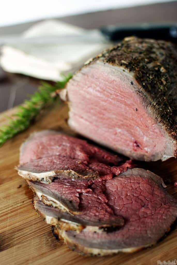 Grill-roasted beef is a classic beef sirloin roast, cooked to ...