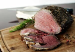 Grill-roasted beef is a classic beef sirloin roast, cooked to perfection on a charcoal or gas grill. A bit healthier and so much more delicious than oven-roasted beef.