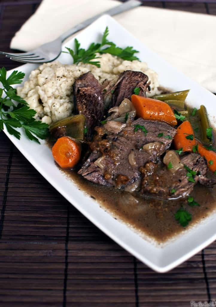 Celebrating Oktoberfest with German Sauerbraten and Spätzle Recipes \\ passthesushi.com