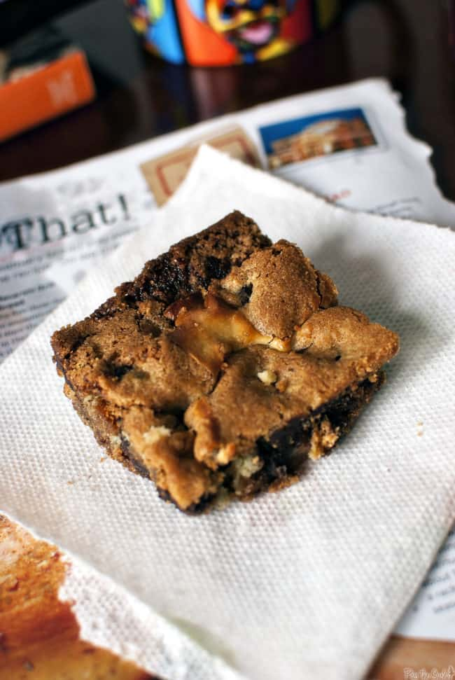 Cheesecake Chocolate Chip Cookie Bars \\ PassTheSushi.com