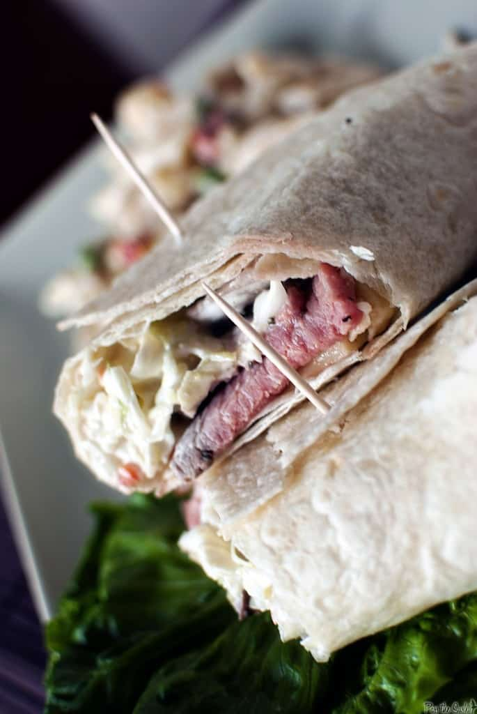 Roast Beef Wrap with Dill Slaw \\ PassTheSushi.com