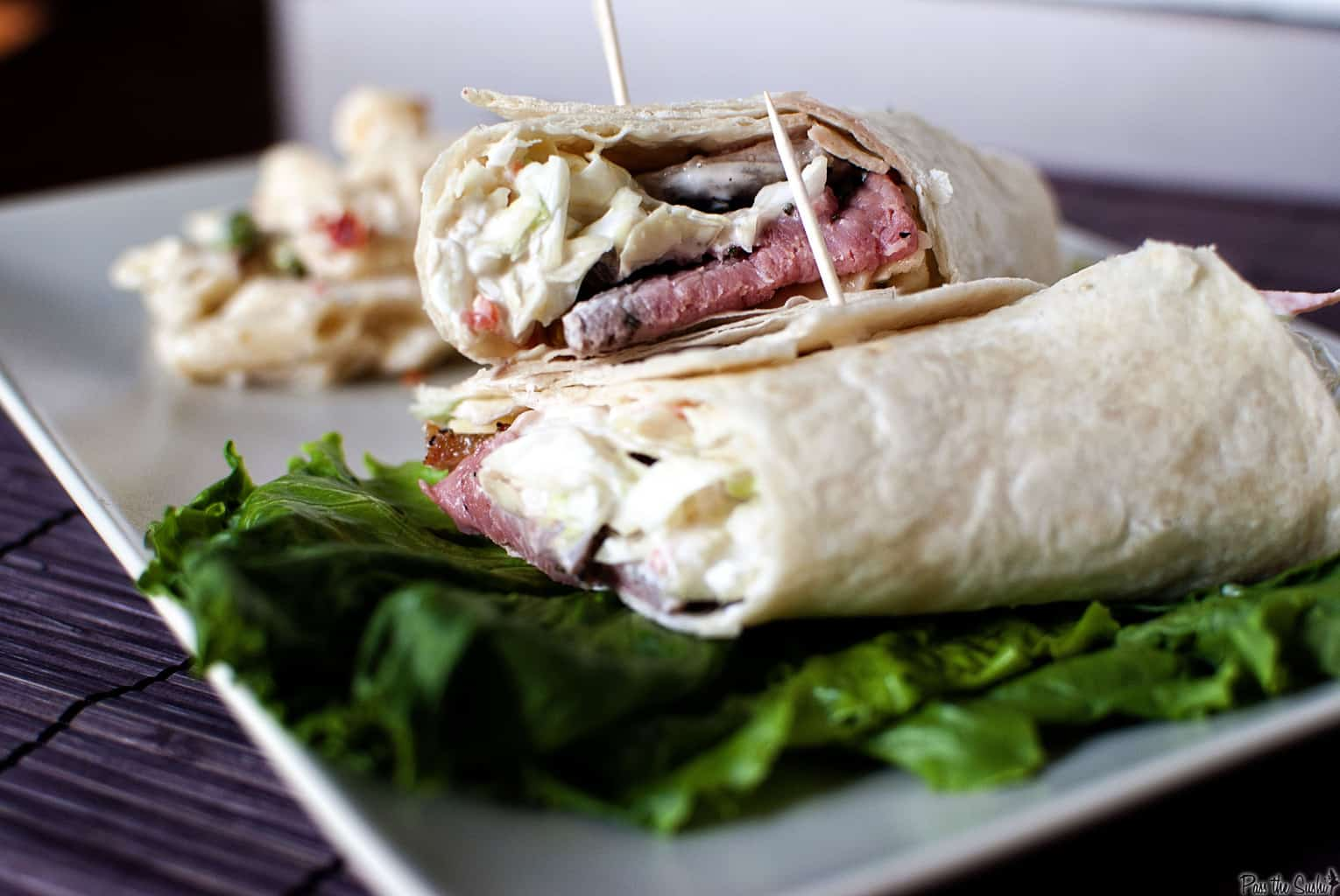 Roast Beef Wrap with Dill Slaw