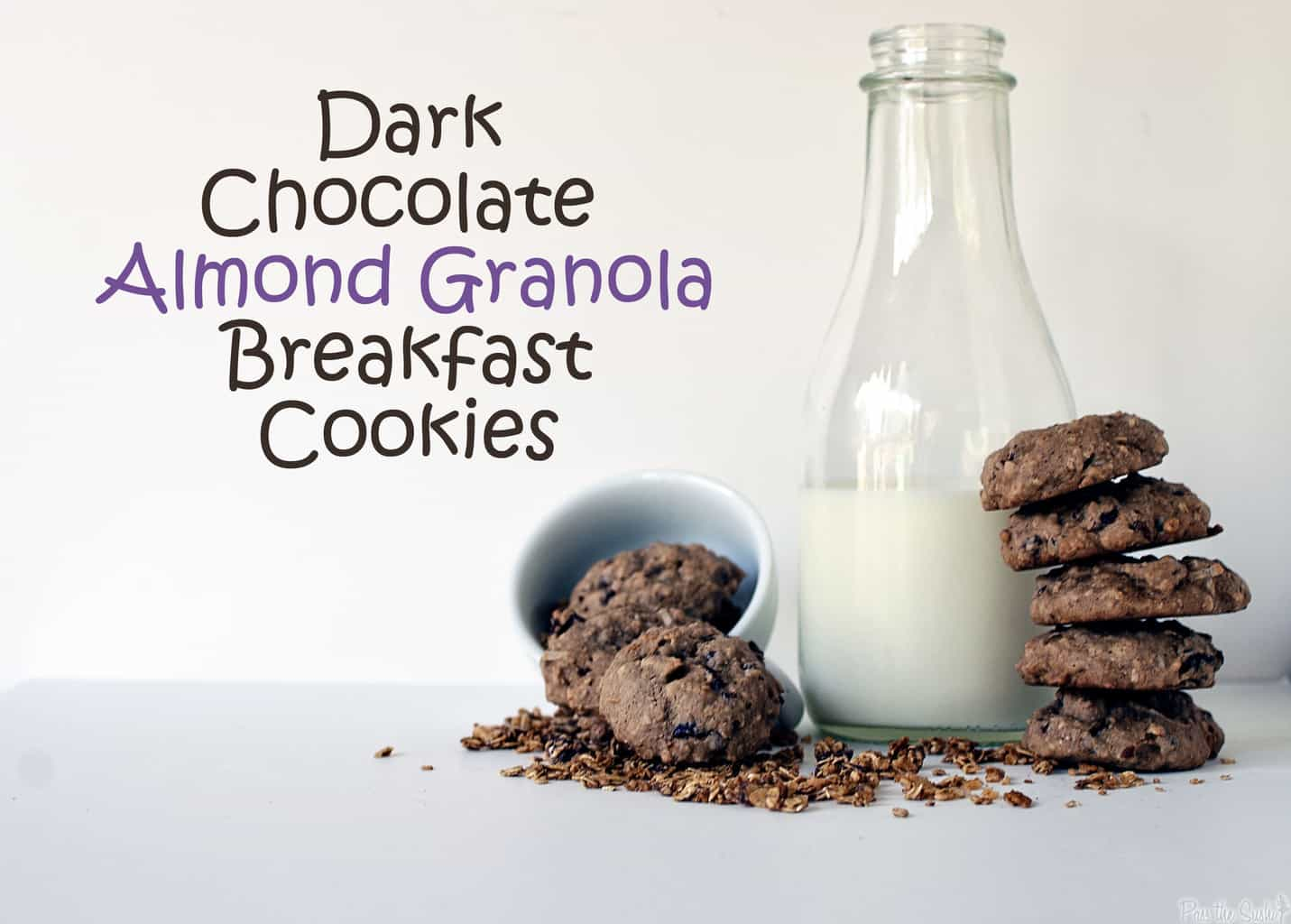 Dark Chocolate Almond Granola Breakfast Cookies and a Giveaway