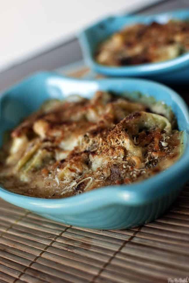Pesto Tortellini Gratin \\ PassTheSushi.com