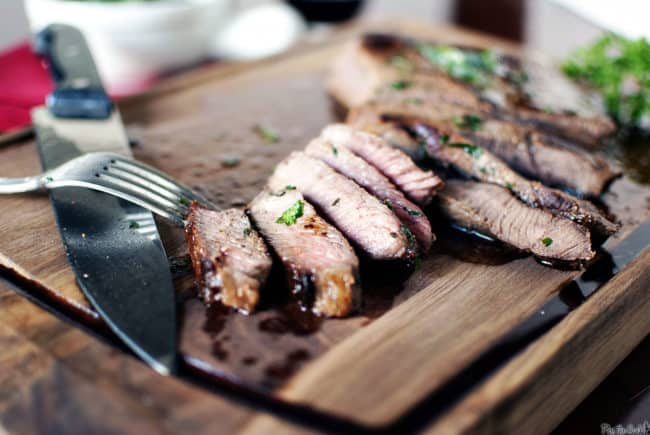 London Broil with Herb Butter \ Pass the Sushi