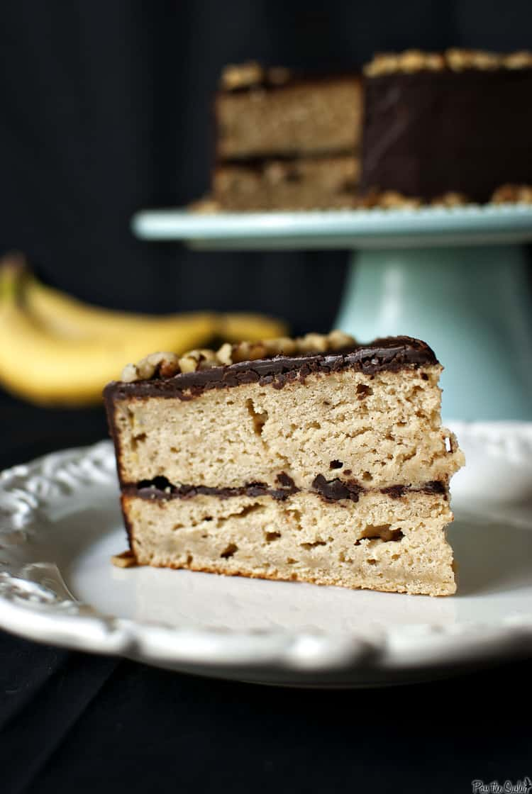 Banana Cake With Chocolate Glaze Pass The Sushi