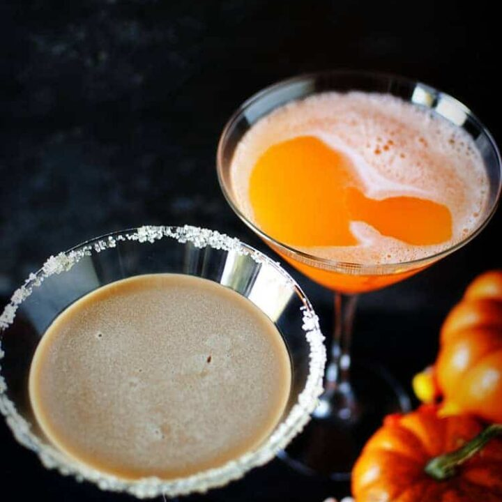 Candy Corn Halloween Martinis