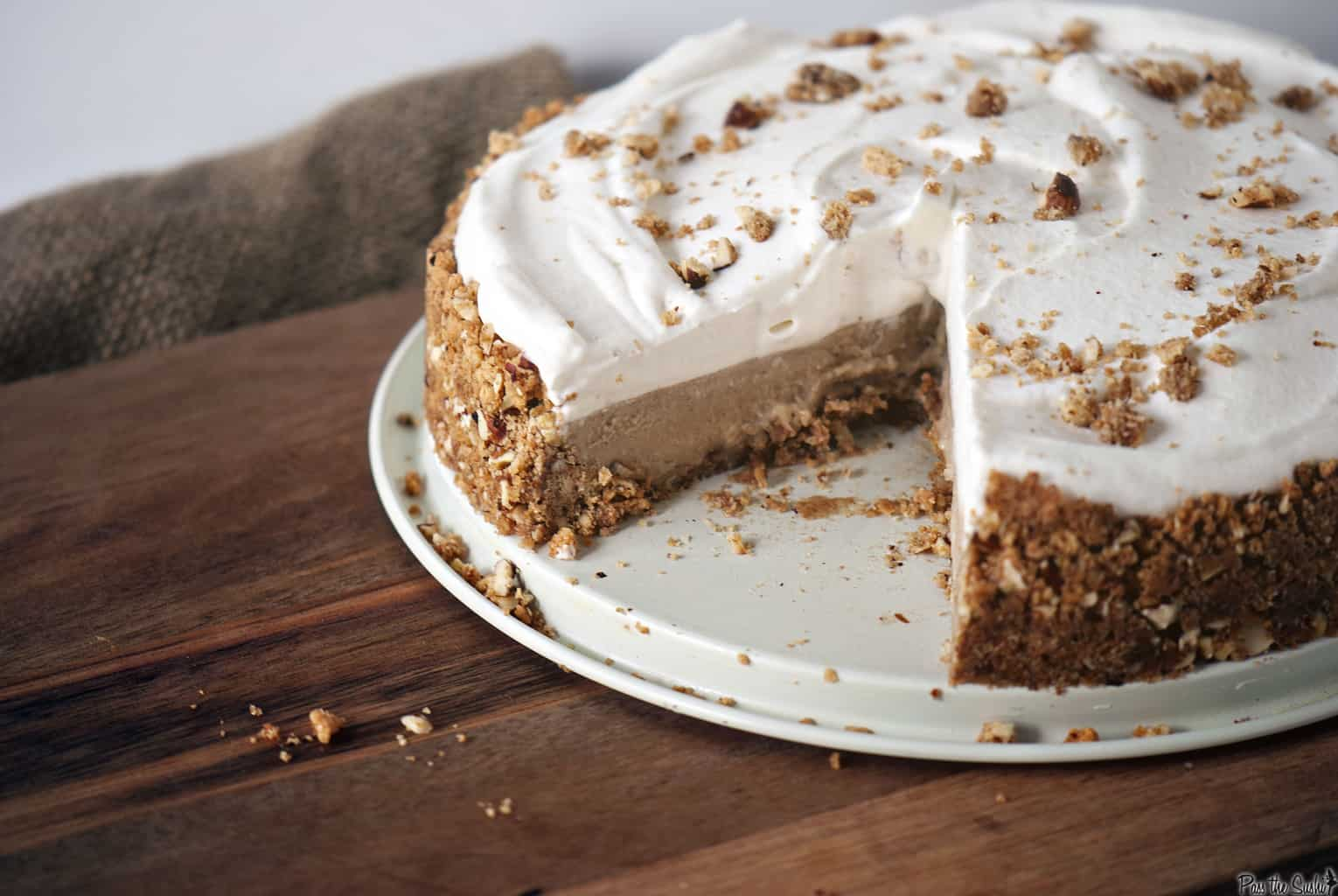 slice missing from the cinnamon chai pie