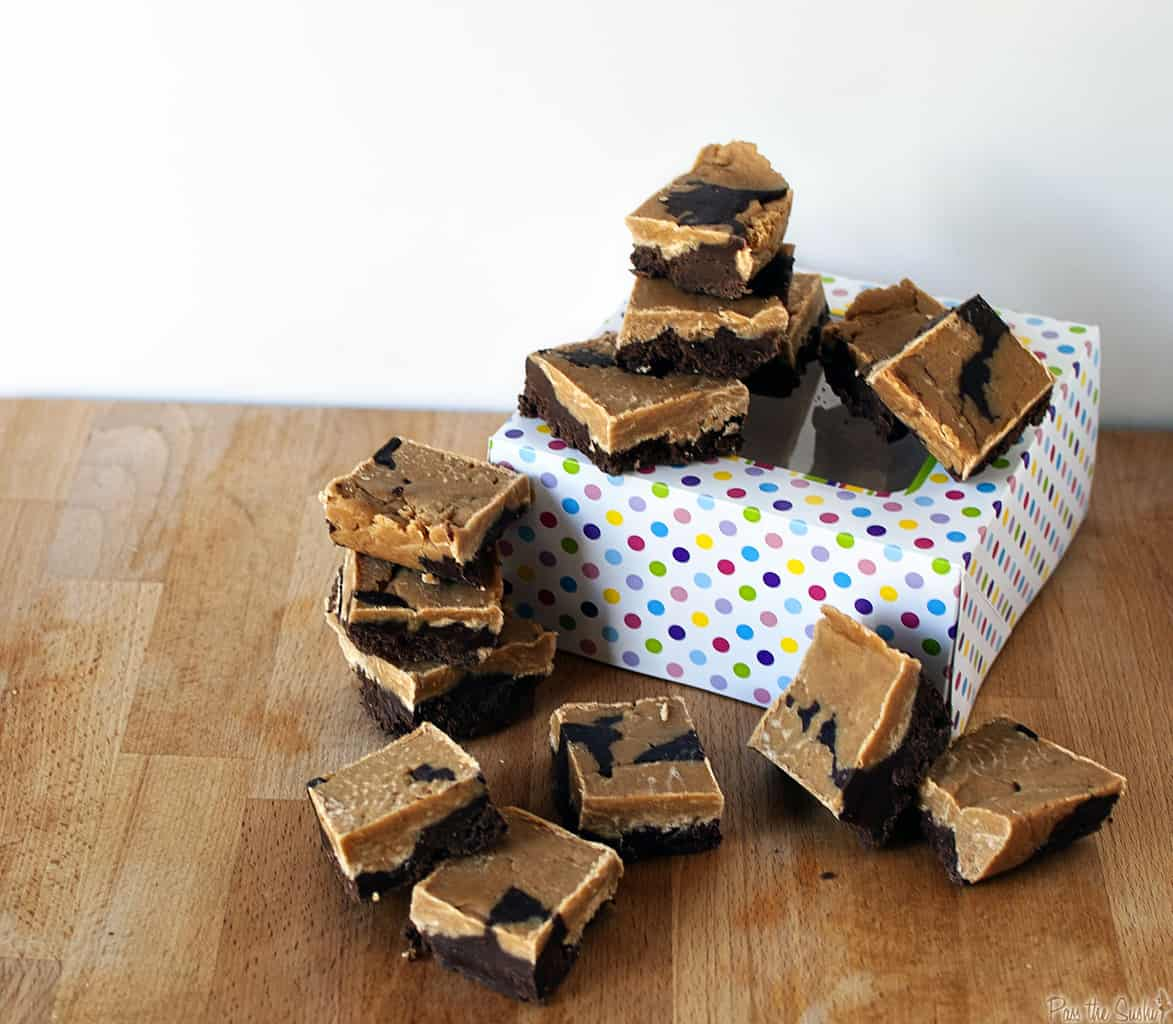 Chocolate peanut butter fudge is the perfect combination of chocolate and peanut butter in the world's perfect confection - fudge. \\ PassTheSushi.com