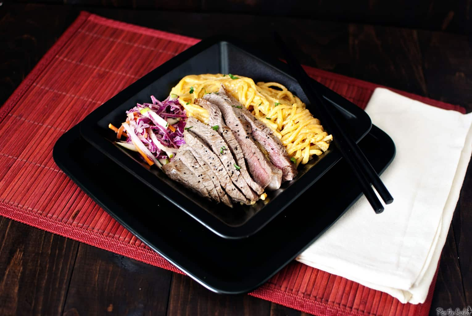 Flank Steak with Peanut Butter Noodles and a Philly Bloggers Meet-up