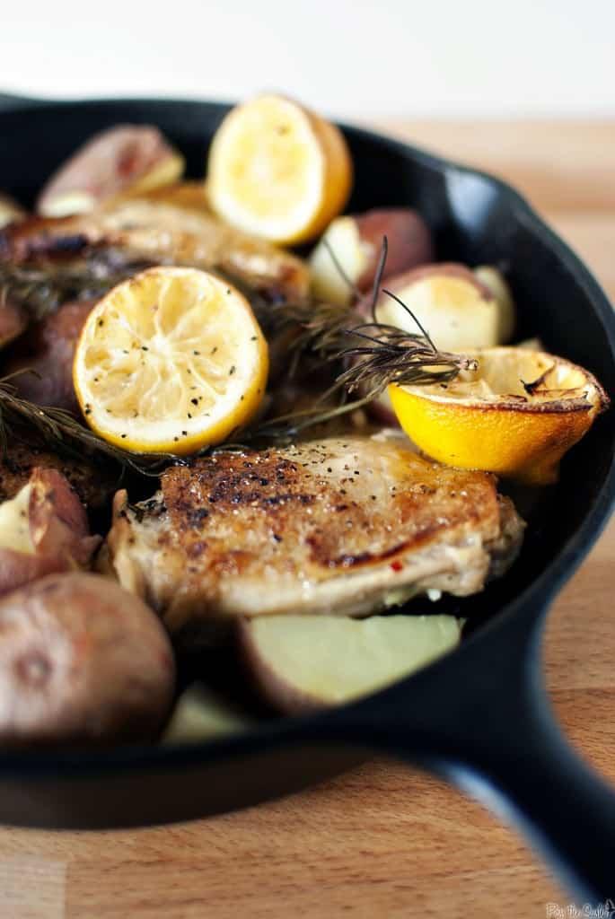 Skillet Rosemary Chicken and Potatoes \\ PassTheSushi.com