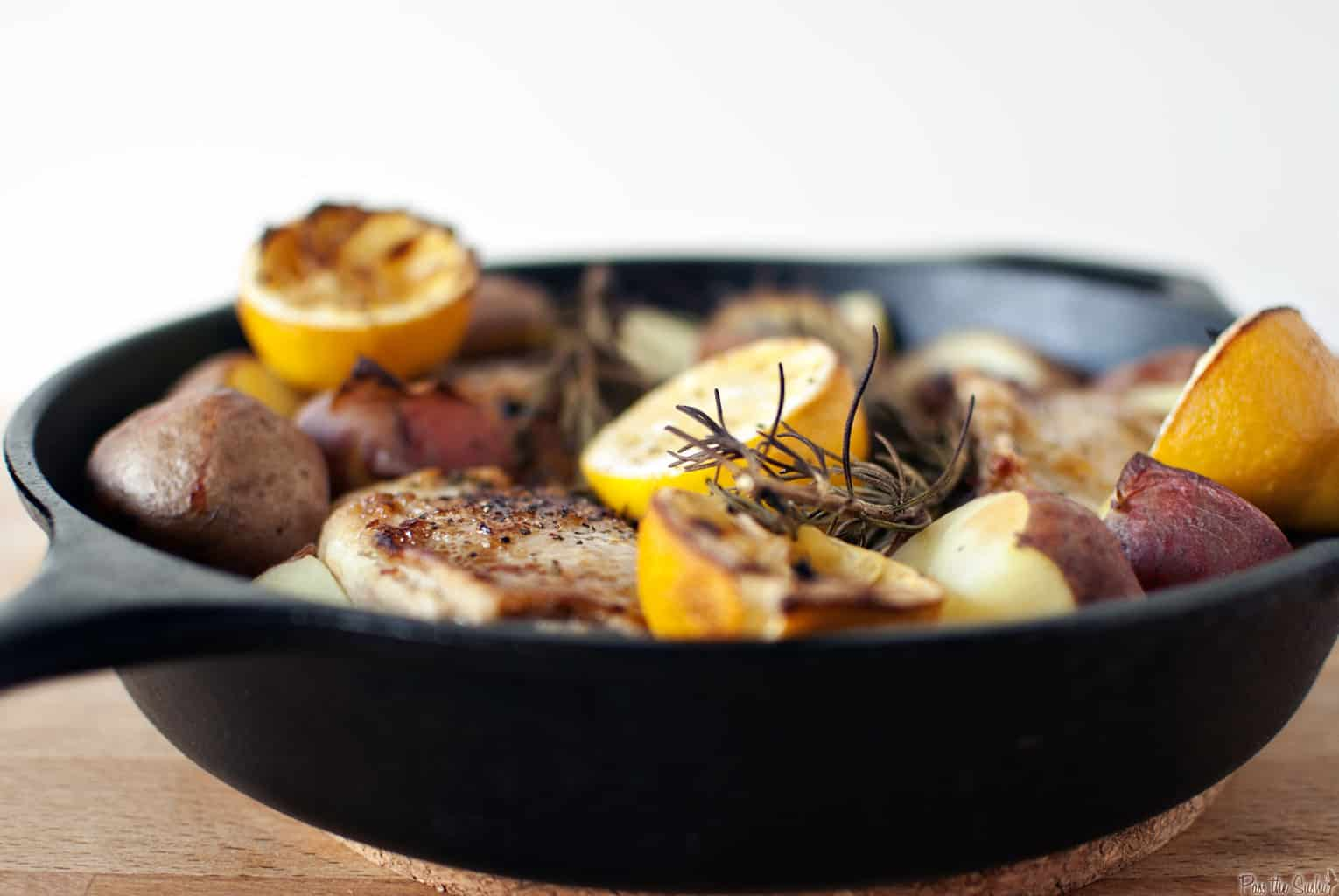 Skillet Rosemary Chicken and Potatoes \\ PassTheSushi.com