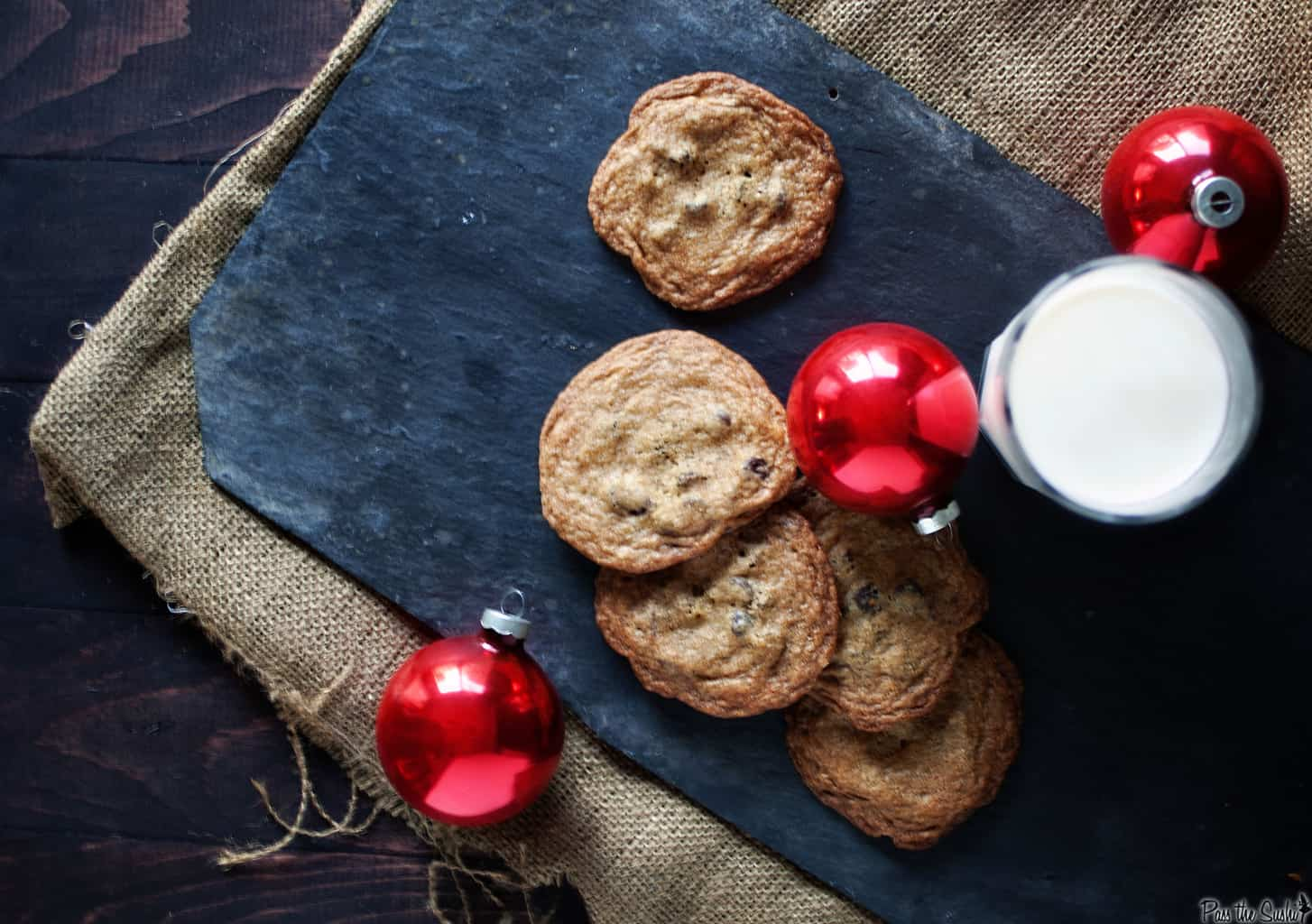 Chocolate chip cookies made with two types of chocolate chips will always trump single chocolate chip cookies. You need this cookie recipe in your life.