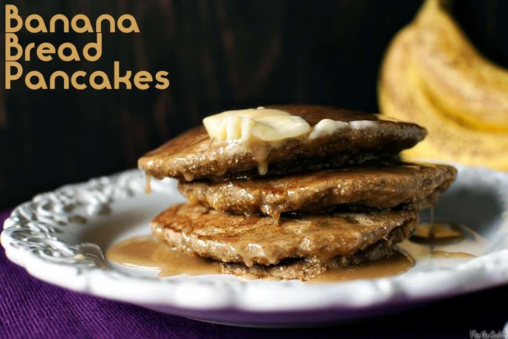 Banana Bread Pancakes \\ PassTheSushi.com