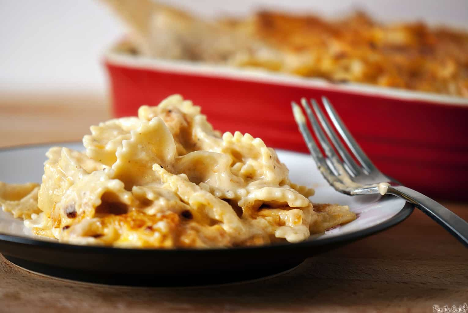 Lightened Up Three-Cheese Macaroni and Cheese \\ PassTheSushi.com