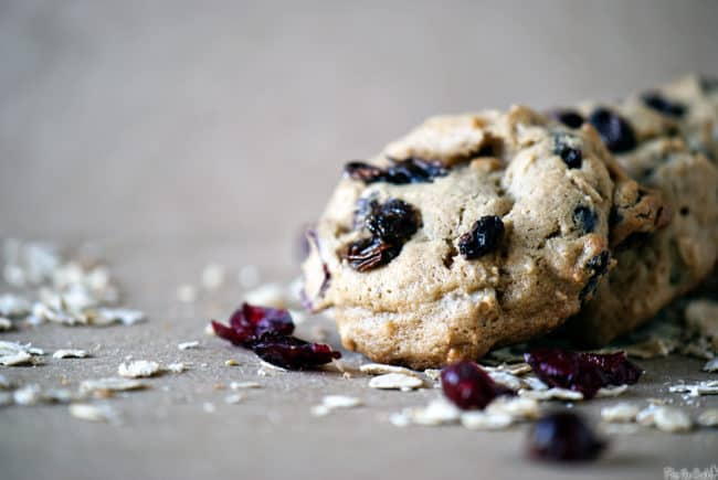 Flu fighter cookies, packed with healthy oats, ginger, lemon, and antioxidants.