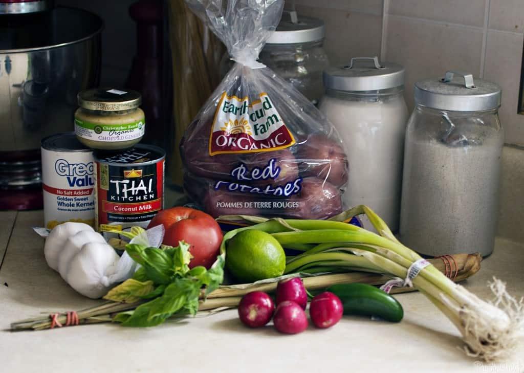 Ingredients for Thai Corn Chowder