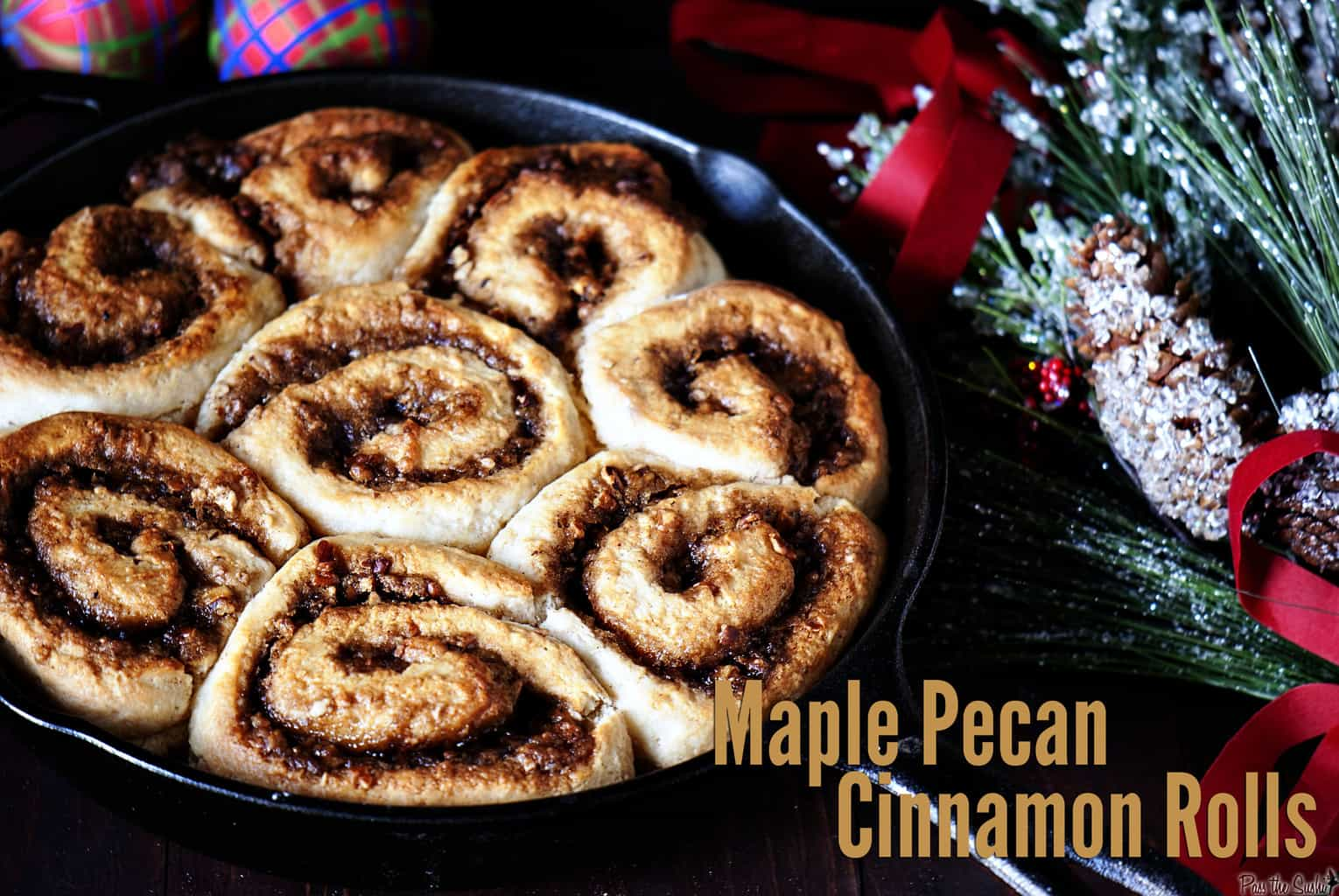 Blueberry Maple Pecan Cinnamon Buns Recipe — Dishmaps