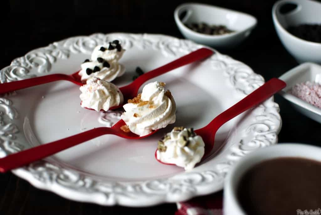 Adult hot chocolate is rich, creamy, and thick, boozed up with alcohol and topped with fresh whipped cream dollops. For grown up kids! \\ PassTheSushi.com