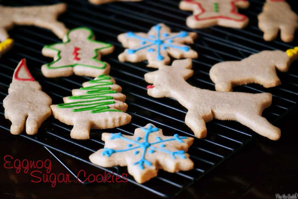 Eggnog sugar cookies are one of the easiest Christmas cookies to make for the holiday season. | PassTheSushi.com