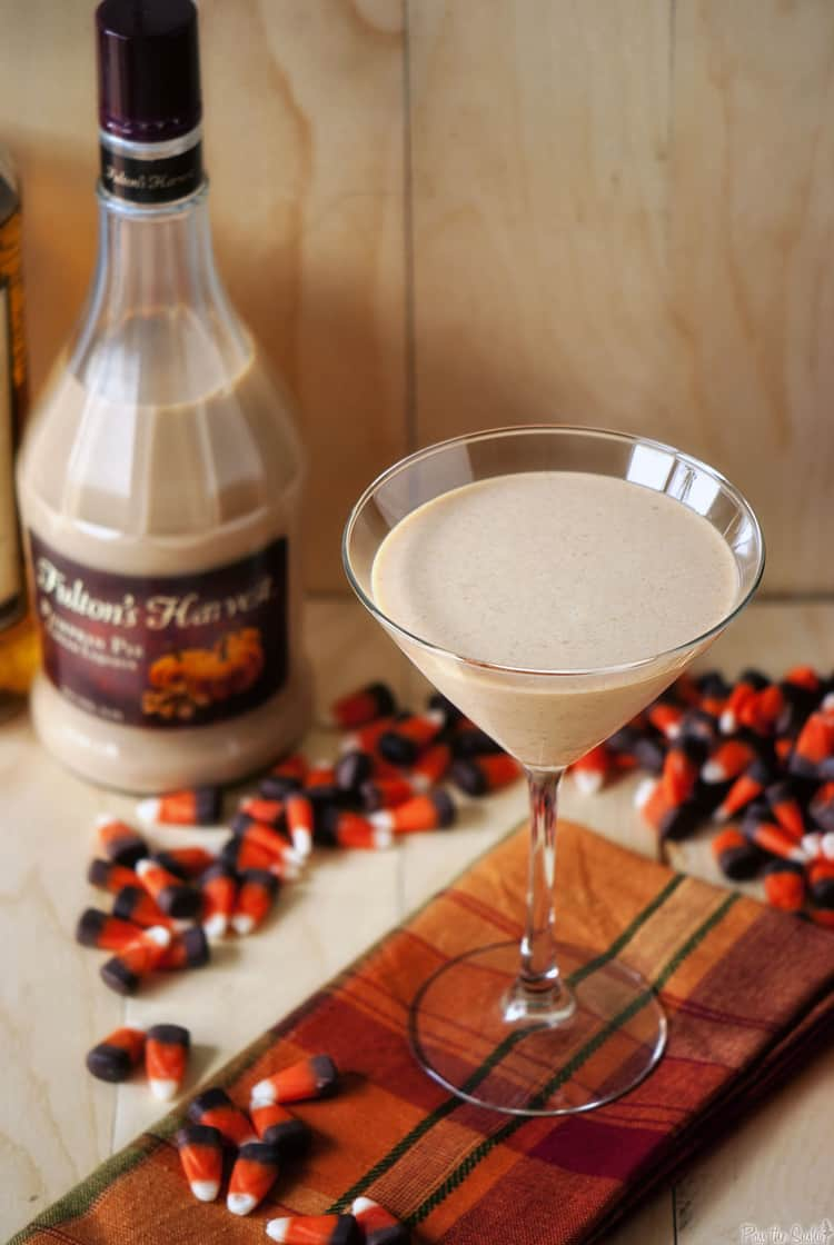 A pumpkin pie martini will be the perfect ending to your holiday dinner party. Rich and creamy, this adult cocktail recipe will put everyone in a festive mood.