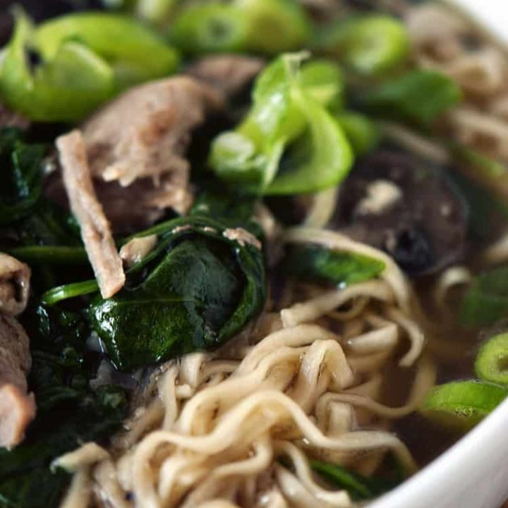Slow Cooker Japanese Pork Ramen Noodle Soup