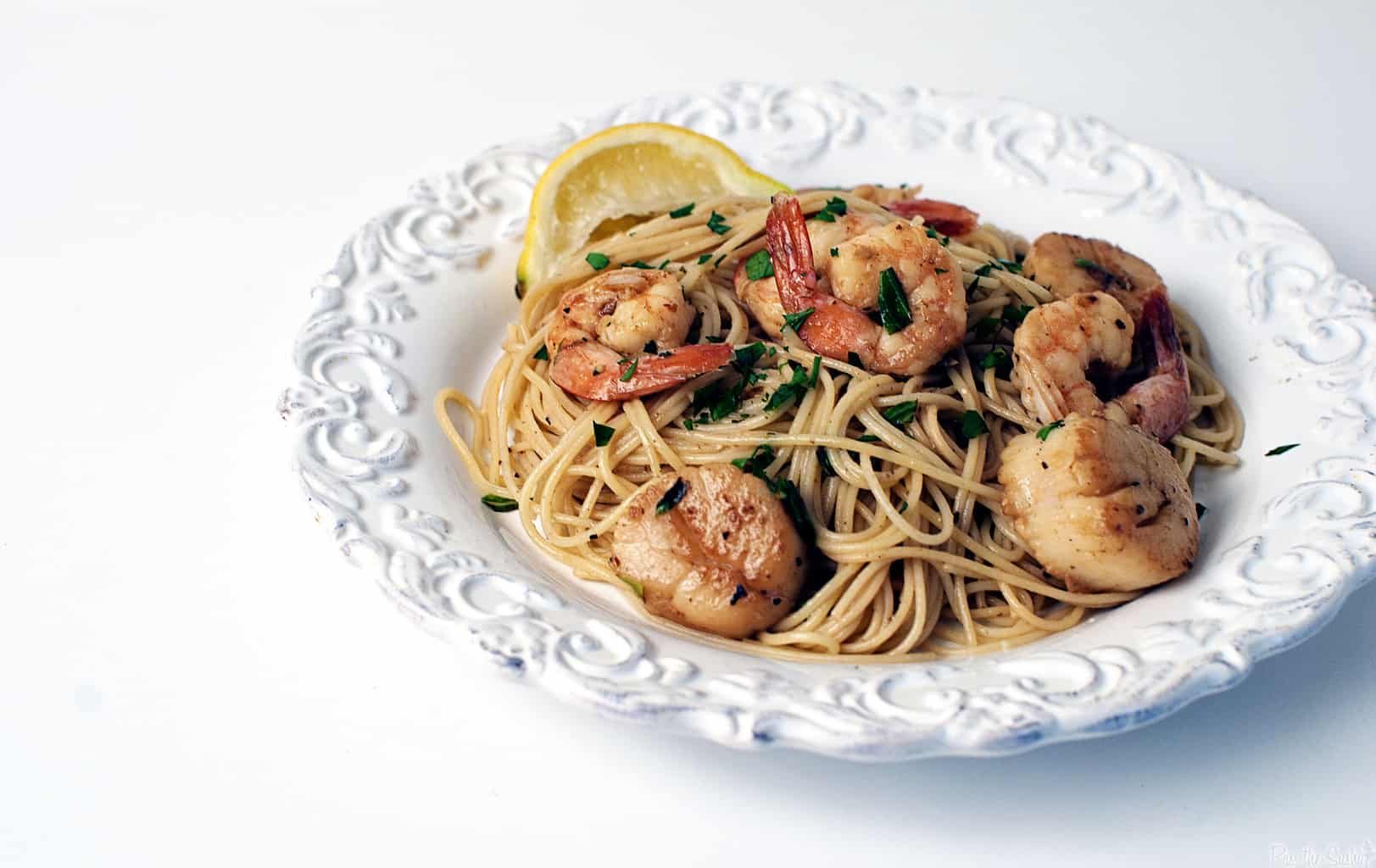 Seafood Scampi With Angel Hair Pasta Pass The Sushi