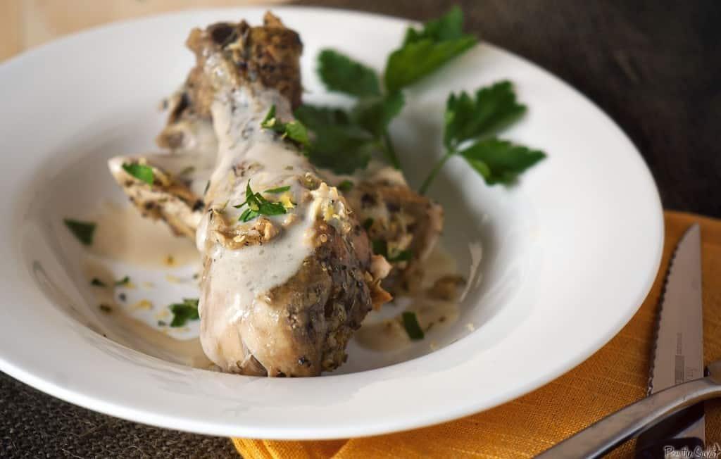 close up of Tarragon Chicken | PassTheSushi.com